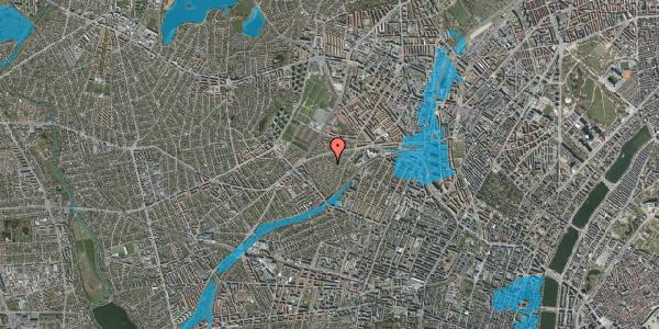 Oversvømmelsesrisiko fra vandløb på Vindruevej 2C, 2400 København NV