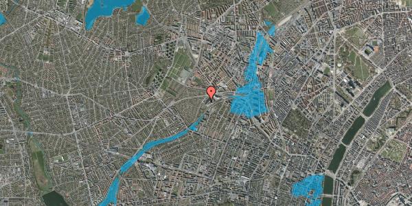 Oversvømmelsesrisiko fra vandløb på Jordbærvej 121, 2400 København NV