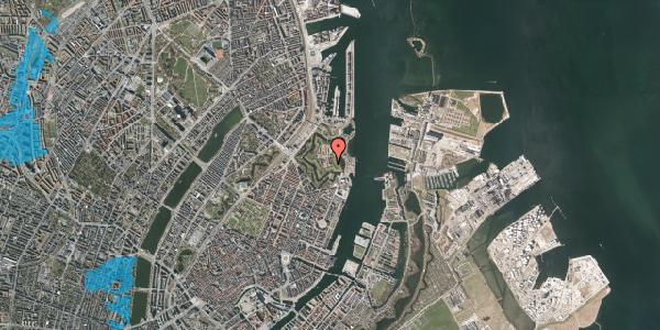 Oversvømmelsesrisiko fra vandløb på Kastellet 1, 2100 København Ø