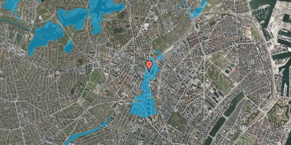 Oversvømmelsesrisiko fra vandløb på Rebslagervej 8, 2400 København NV