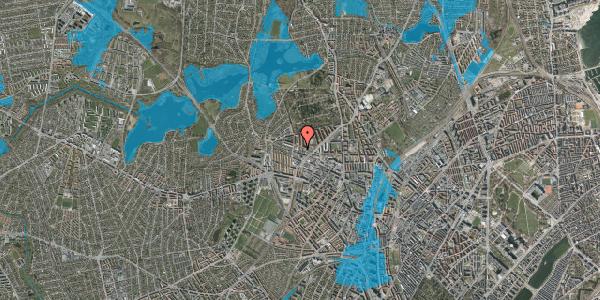 Oversvømmelsesrisiko fra vandløb på Dortheavej 40, 1. 2, 2400 København NV