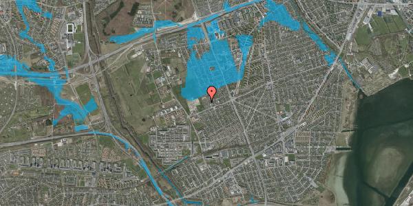 Oversvømmelsesrisiko fra vandløb på Hf. Dahlia 15, 2650 Hvidovre