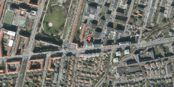 Oversvømmelsesrisiko fra vandløb på H.V. Nyholms Vej 2, 3. 2, 2000 Frederiksberg