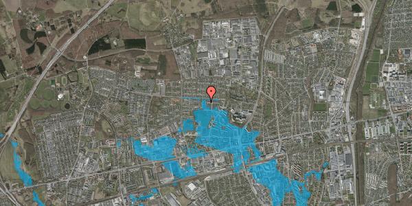 Oversvømmelsesrisiko fra vandløb på Elmehusene 48A, 2600 Glostrup