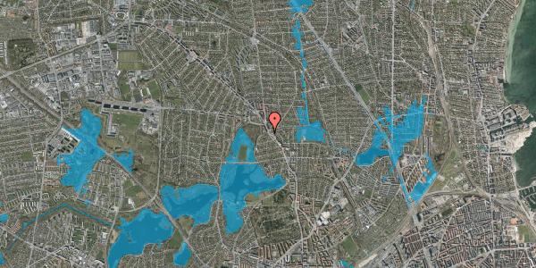Oversvømmelsesrisiko fra vandløb på Dunhammervej 2, 2400 København NV