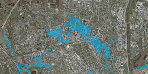 Oversvømmelsesrisiko fra vandløb på Hermods Allé 7, 2600 Glostrup