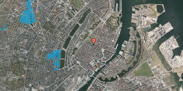 Oversvømmelsesrisiko fra vandløb på Vognmagergade 8B, 2. , 1120 København K