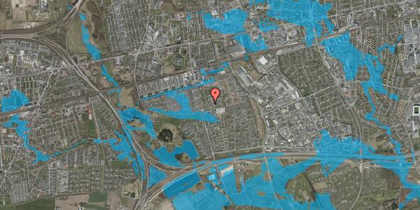 Oversvømmelsesrisiko fra vandløb på Løkkekrogen 5, 2625 Vallensbæk