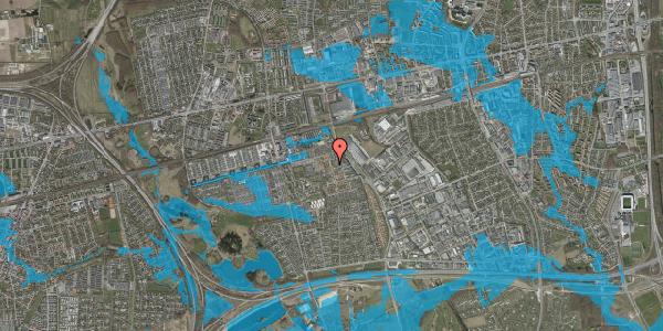 Oversvømmelsesrisiko fra vandløb på Hvidkløvervænget 23, 2625 Vallensbæk