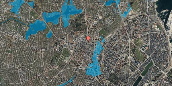 Oversvømmelsesrisiko fra vandløb på Rentemestervej 38A, 2400 København NV