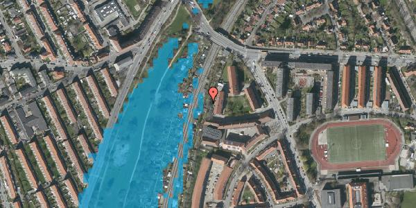 Oversvømmelsesrisiko fra vandløb på Haven 9A, 2000 Frederiksberg