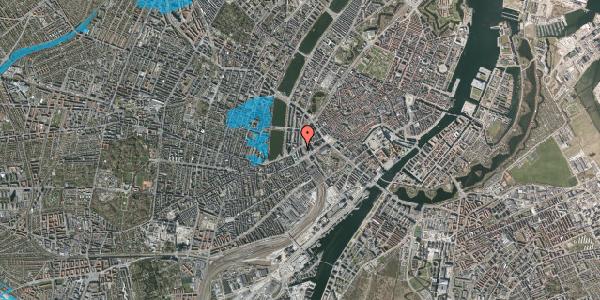 Oversvømmelsesrisiko fra vandløb på Vester Farimagsgade 6, 1. 1037, 1606 København V