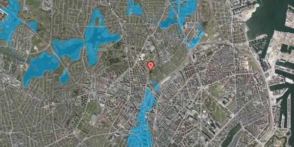 Oversvømmelsesrisiko fra vandløb på Bispebjerg Bakke 6, 2400 København NV