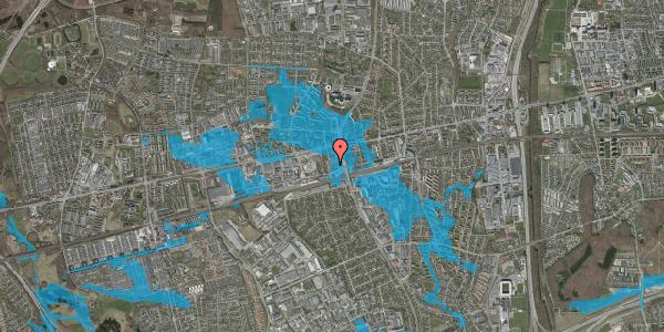 Oversvømmelsesrisiko fra vandløb på Eriksvej 9, 2600 Glostrup