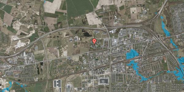 Oversvømmelsesrisiko fra vandløb på Gregersensvej 6G, 2630 Taastrup