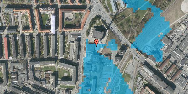 Oversvømmelsesrisiko fra vandløb på Lygten 18B, 1. , 2400 København NV