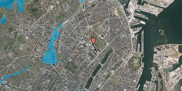Oversvømmelsesrisiko fra vandløb på Edel Sauntes Allé 14, 2100 København Ø