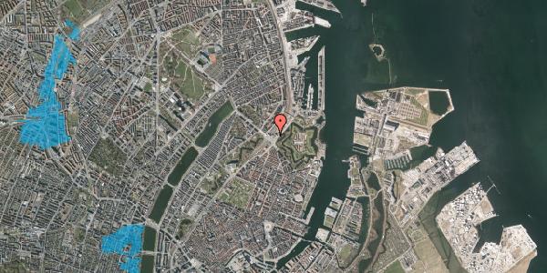 Oversvømmelsesrisiko fra vandløb på Oslo Plads 2C, 4. , 2100 København Ø