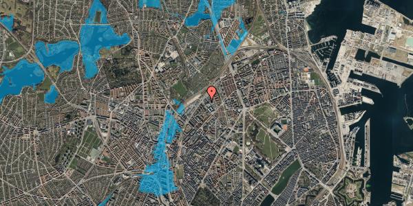 Oversvømmelsesrisiko fra vandløb på Vermundsgade 40, 2. th, 2100 København Ø
