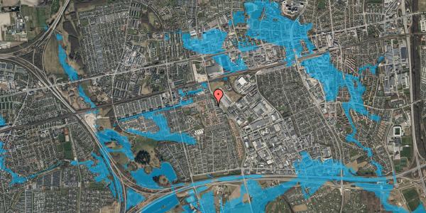 Oversvømmelsesrisiko fra vandløb på Grønkløvervænget 26, 2625 Vallensbæk