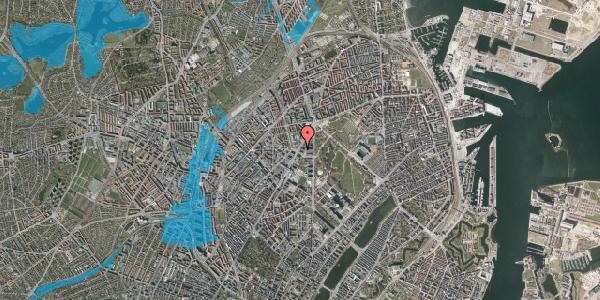 Oversvømmelsesrisiko fra vandløb på Jagtvej 160, 2100 København Ø