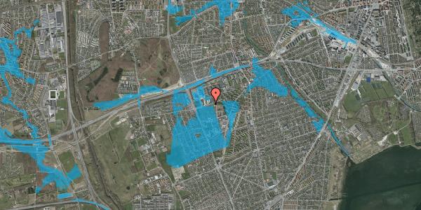 Oversvømmelsesrisiko fra vandløb på Hf. Svarø 118, 2650 Hvidovre