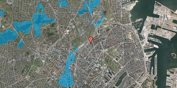 Oversvømmelsesrisiko fra vandløb på Emblasgade 1, 2. 203, 2100 København Ø