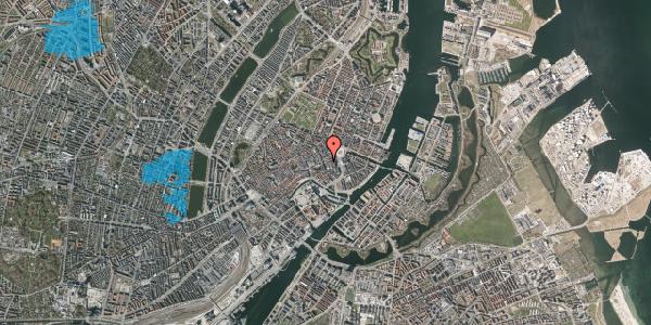 Oversvømmelsesrisiko fra vandløb på Bremerholm 3A, 3. , 1069 København K
