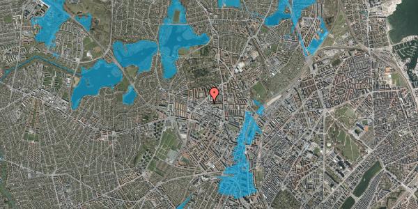 Oversvømmelsesrisiko fra vandløb på Birkedommervej 29, 2400 København NV