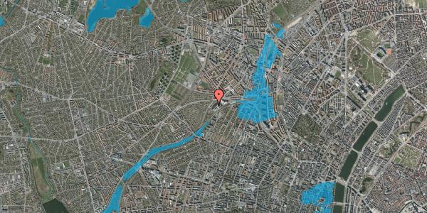 Oversvømmelsesrisiko fra vandløb på Jordbærvej 99, 1. , 2400 København NV