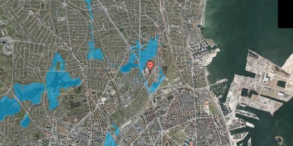 Oversvømmelsesrisiko fra vandløb på Gartnerivej 1F, 2100 København Ø