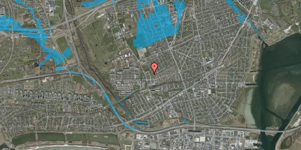 Oversvømmelsesrisiko fra vandløb på Mellemvangsvej 58, 1. th, 2650 Hvidovre
