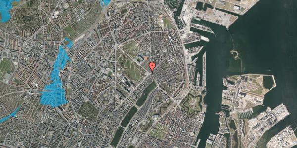 Oversvømmelsesrisiko fra vandløb på Trianglen 8, 2100 København Ø