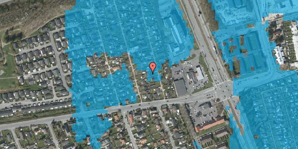 Oversvømmelsesrisiko fra vandløb på Hf. Kettehøj 91, 2650 Hvidovre