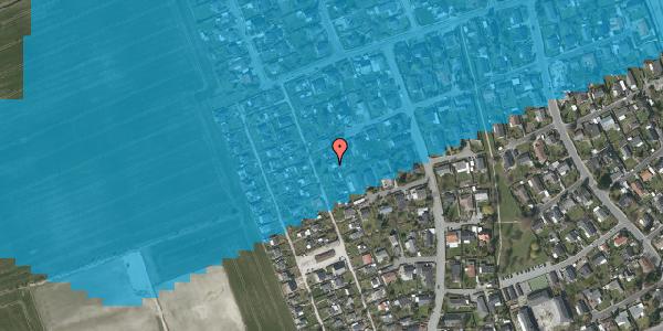 Oversvømmelsesrisiko fra vandløb på Hf. Dahlia 40, 2650 Hvidovre