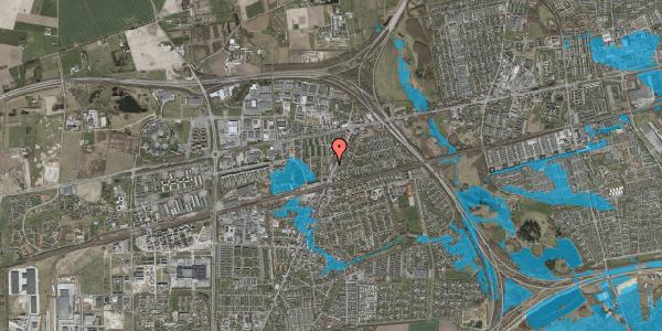 Oversvømmelsesrisiko fra vandløb på Birkedalsvej 2, 2630 Taastrup