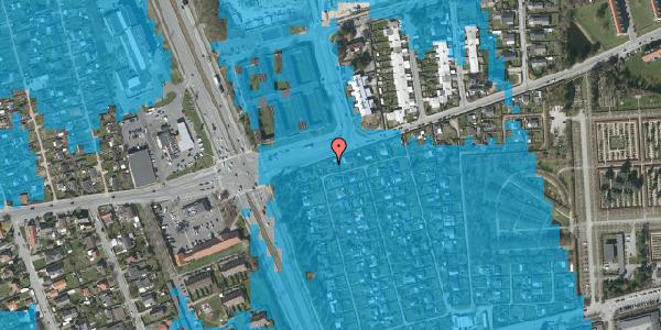 Oversvømmelsesrisiko fra vandløb på Hf. Svarø 42, 2650 Hvidovre
