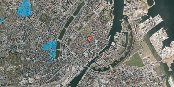Oversvømmelsesrisiko fra vandløb på Købmagergade 22, st. th, 1150 København K