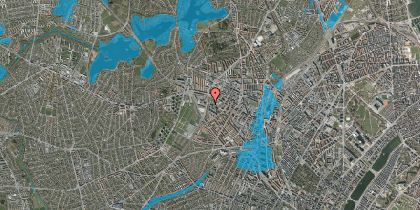 Oversvømmelsesrisiko fra vandløb på Gråspurvevej 3, st. , 2400 København NV