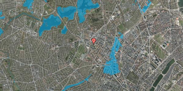 Oversvømmelsesrisiko fra vandløb på Gråspurvevej 3, 5. 2, 2400 København NV