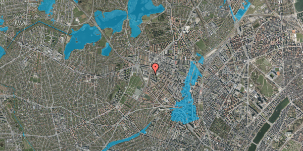 Oversvømmelsesrisiko fra vandløb på Gråspurvevej 5, 1. 4, 2400 København NV
