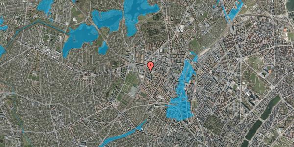 Oversvømmelsesrisiko fra vandløb på Gråspurvevej 5, 3. 1, 2400 København NV