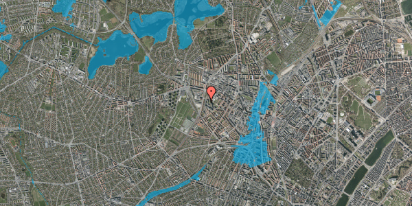 Oversvømmelsesrisiko fra vandløb på Gråspurvevej 15, 4. 2, 2400 København NV