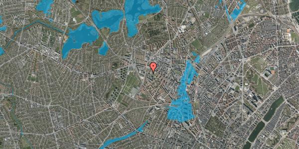 Oversvømmelsesrisiko fra vandløb på Gråspurvevej 25, 6. 2, 2400 København NV