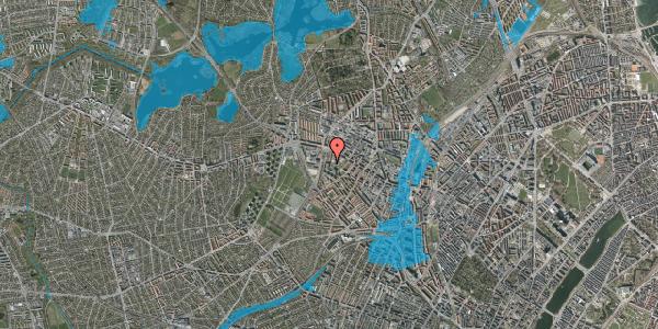 Oversvømmelsesrisiko fra vandløb på Gråspurvevej 25, 5. 2, 2400 København NV