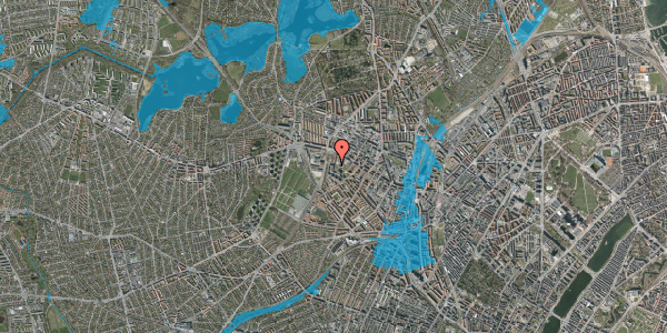 Oversvømmelsesrisiko fra vandløb på Gråspurvevej 25, st. 1, 2400 København NV