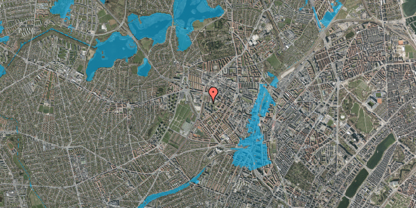 Oversvømmelsesrisiko fra vandløb på Gråspurvevej 27, 1. 2, 2400 København NV
