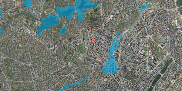 Oversvømmelsesrisiko fra vandløb på Gråspurvevej 27, 4. 3, 2400 København NV