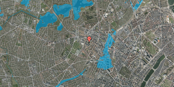 Oversvømmelsesrisiko fra vandløb på Gråspurvevej 43, 1. 3, 2400 København NV