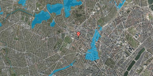 Oversvømmelsesrisiko fra vandløb på Gråspurvevej 43, 2. 1, 2400 København NV